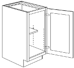 BFH9 Single Door Full Height Base Cabinet 9