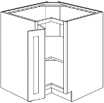 SCB33 - Double Door Square Corner Base Cabinet 33