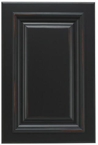 Black Distressed Mocha Door