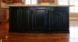 Black Distressed Island Kitchen Cabinets