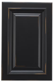 Black Distressed Ginger Cabinet Door