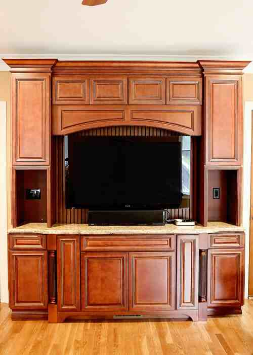 Entertainment Center Cabinet Mocha Deluxe