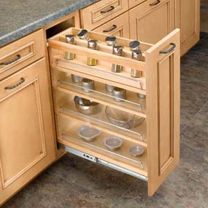 kitchen cabinets spice rack pull out 8 quot pull out spice rack for bfh12 21209