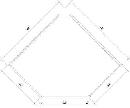 Dsb42 Rta White Shaker Diagonal Corner Sink Base Cabinet 4
