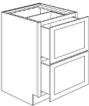 2DB18 - Pre-Assembled Brandywine Shaker Two Drawer Base Cabinet 18