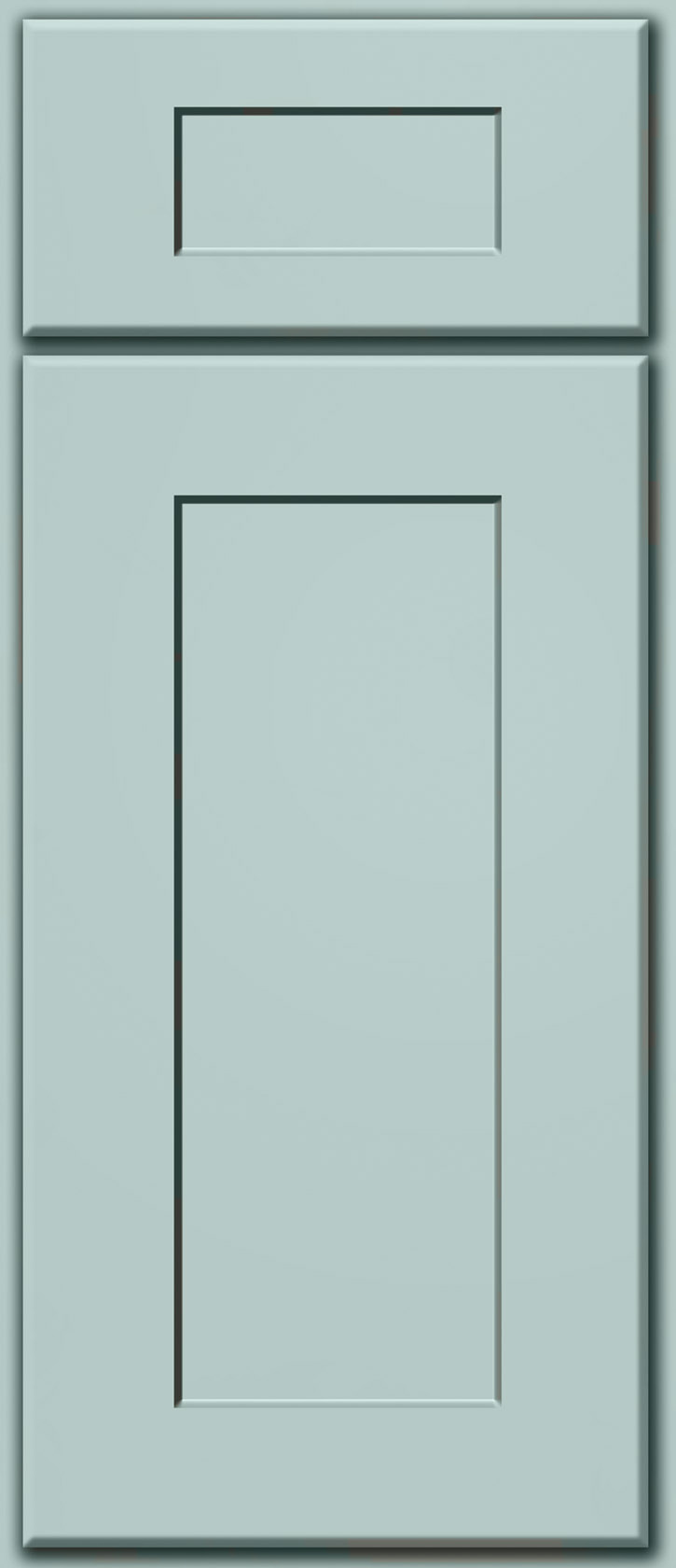 Tidewater Blue Shaker Door Sample (Custom Door Color)