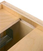 1/2'' Plywood I-Beam Runners Along Top Dadoes