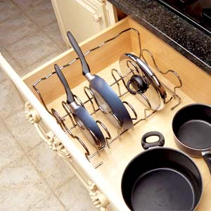 DROP-IN COOKWARE DRAWER ORGANIZER