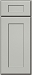 Light Grey Shaker Deluxe Door Sample (Custom Cabinet Door Color)