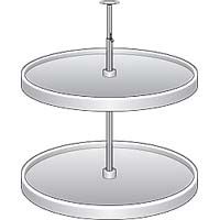 Round Spinners For Diagonal Corner Base