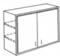 W3312BD - RTA White Shaker Double Door Wall Cabinet 33