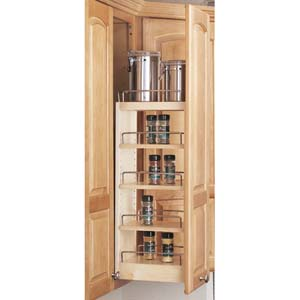 5 Quot Wide Wall Pull Out Spice Rack For 9 Inch Wall Cabinet