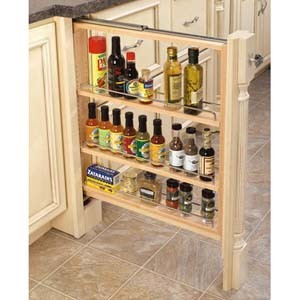 SPRK3 3 Inch Base Filler Pull Out Spice Rack