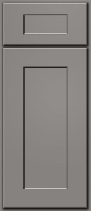 Dark Grey Shaker Deluxe Door Sample (Custom Cabinet Door Color)