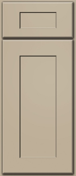 Khaki Shaker Door Sample (Custom Door Color)