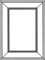 MBEP2430 - White Shaker Matching Decorative Door Panel  For Base Cabinets 23.75