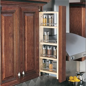SPRK3 3 Inch Wall Filler Pull Out Spice Rack